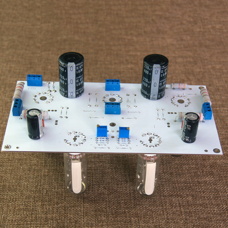 6N2//6N1 6P1 3W*2 Stereo Tube Amp Power Amplifier 6E2 level indicator Bare Board