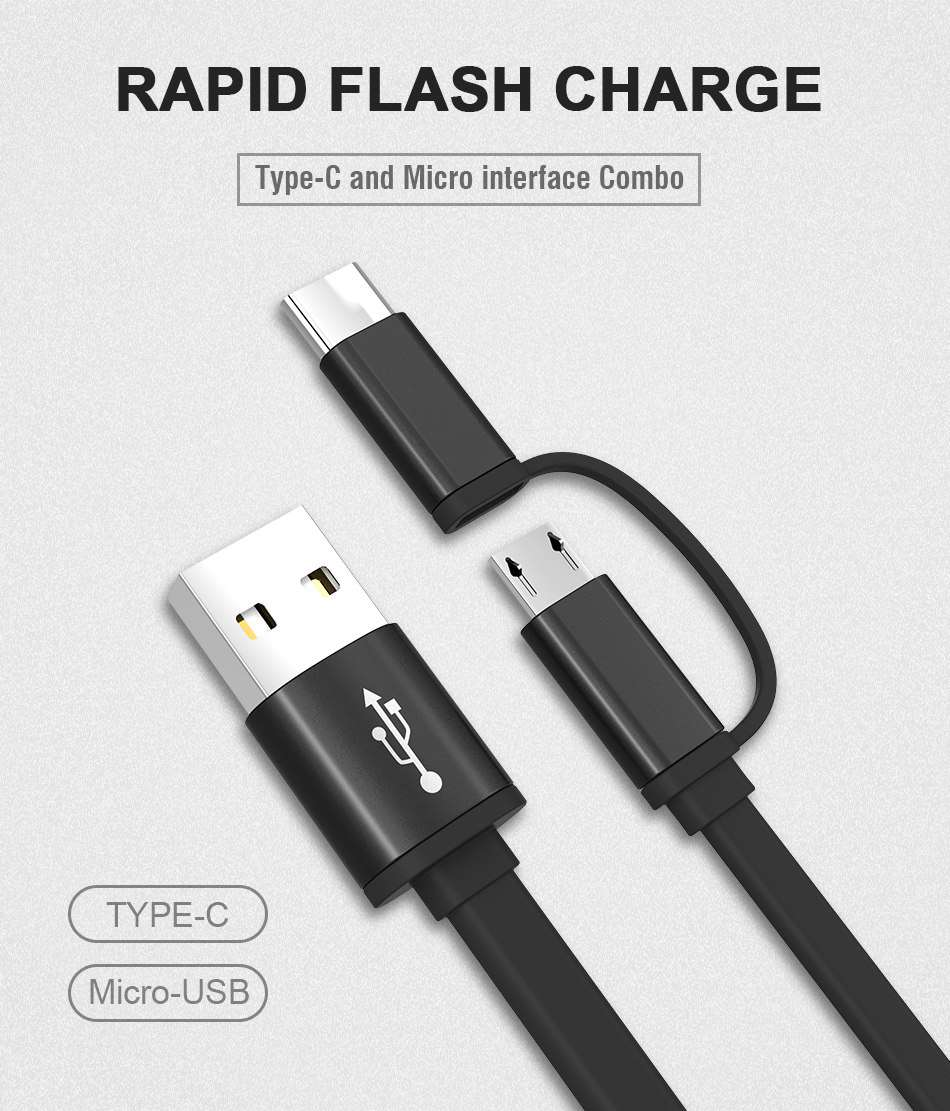 phone cable micro usb type c quick charging adapter usb 3 0 cables for android ebay. Black Bedroom Furniture Sets. Home Design Ideas