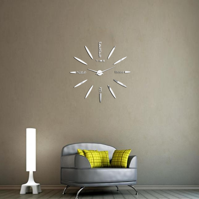 Diy Wall Decor For Office : Diy large wall clock home office room decor analog d