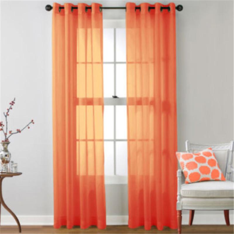 1x Valances Tulle Voile Door Window Curtain Drape Panel Sheer Scarf Divider Ebay
