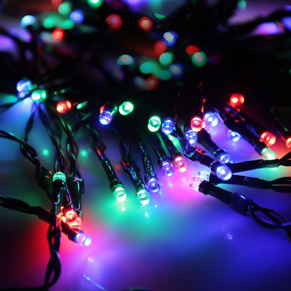 Colorful String Lights : Colorful LED Outdoor Solar String Light Garden Christmas Party Fairy Lamp eBay