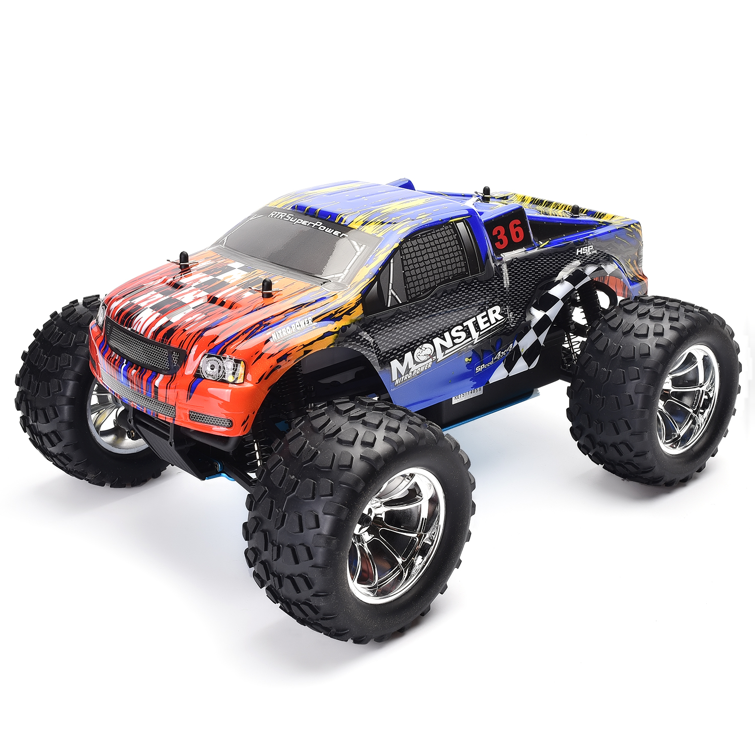 Hsp Rc Truck Nitro Gas Power Off Road Monster Truck 94188: HSP 1/10 Scale Rc Truck Models Nitro Gas Power Off Road