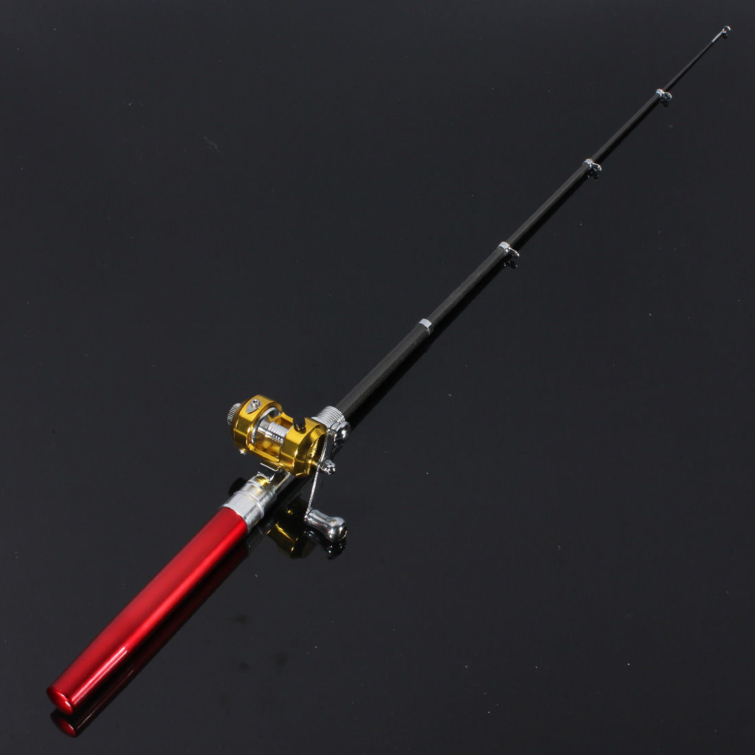 Mini alloy pen fishing tackle rod portable pocket aluminum for Mini pen fishing rod