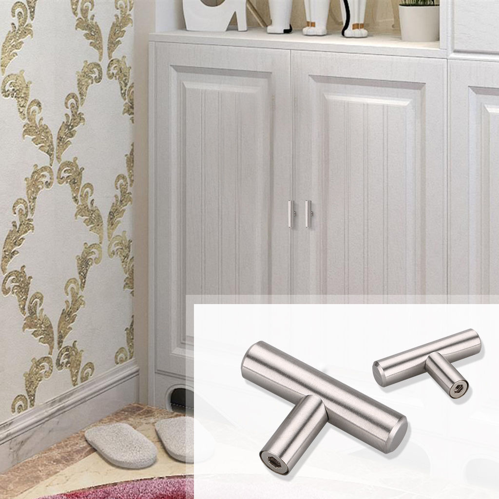 "Modern Kitchen Cabinet Handles And Pulls: 2-18"" Modern Stainless Steel Kitchen Cabinet T Pulls"