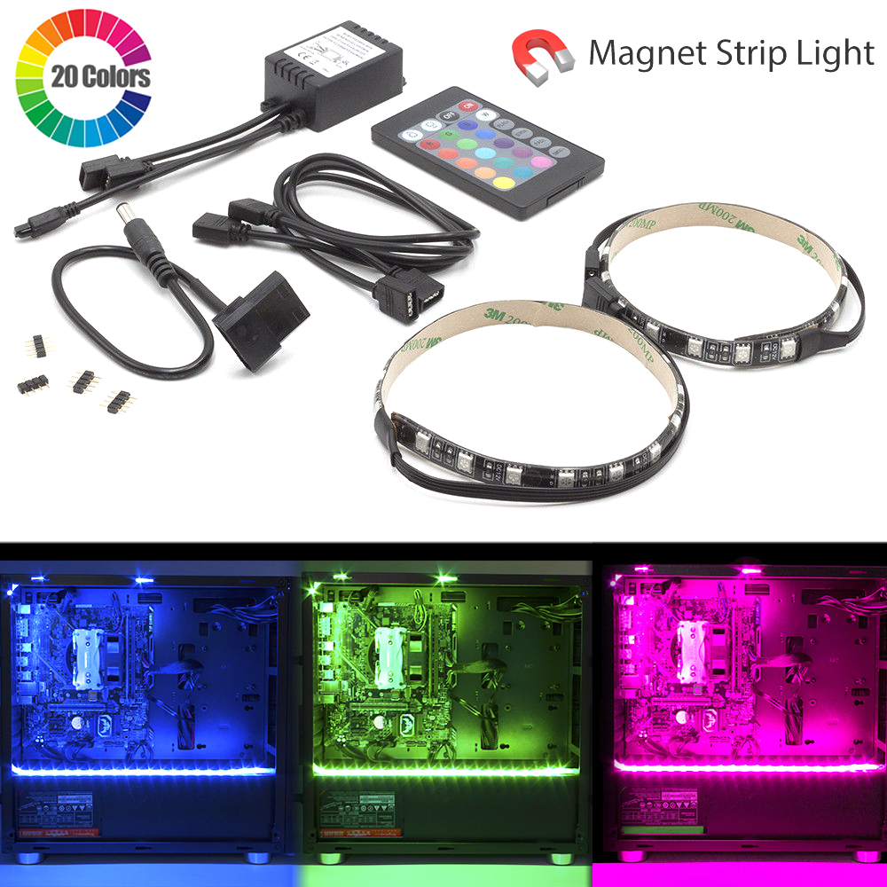 MagiDeal RGB LED Strip Gaming Computer PC Case Light for ASUS Aura Sync