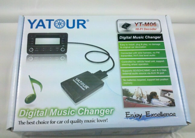 YATOUR Car Digital Music Changer MP3 Adaptor Interface Auto Stereo USB SD AUX Bluetooth Radio for Mazda Optional