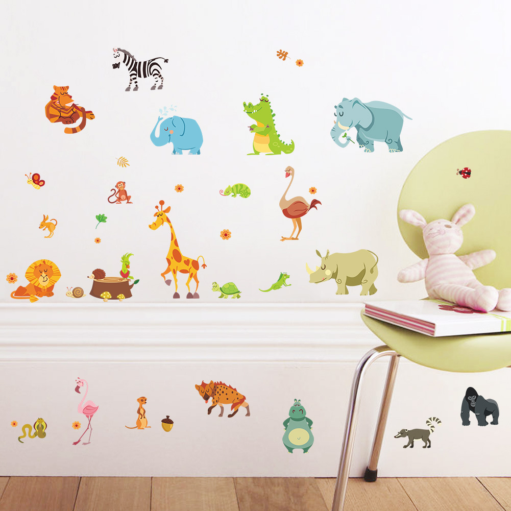 Forest Animals Wall Sticker For Children Room Wall Art Mural Baby