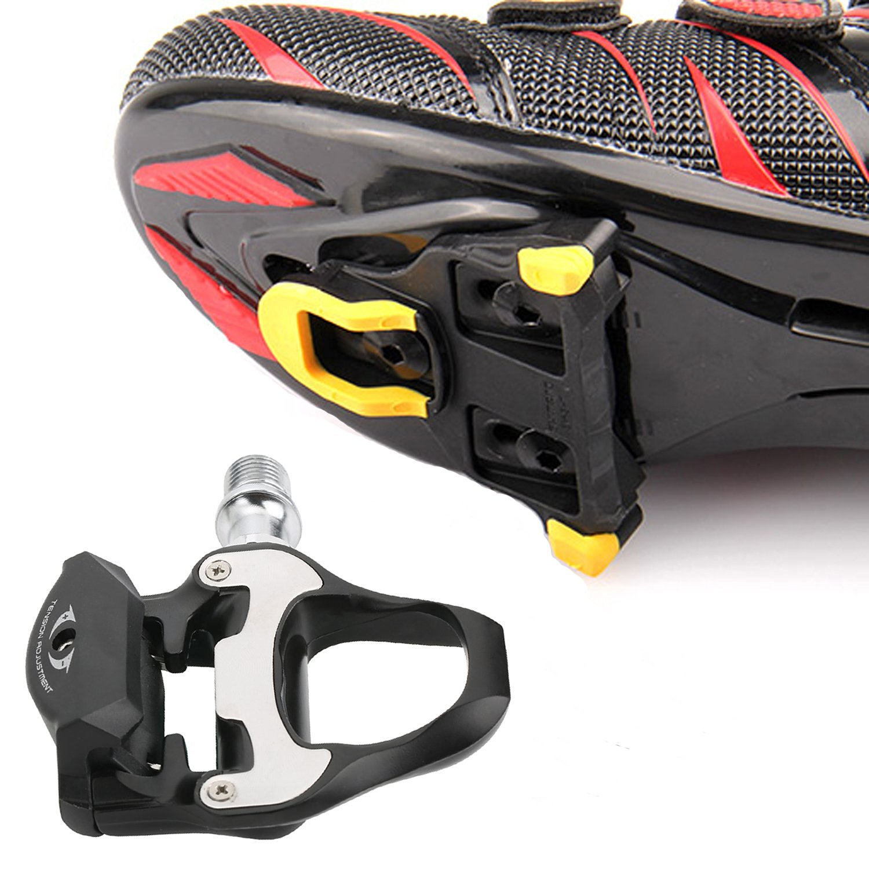 1e71ffecc680 Bike Clipless Pedal Platform Adapter Black + Pedal Cleat Tool For SHIMANO  SPD-SL