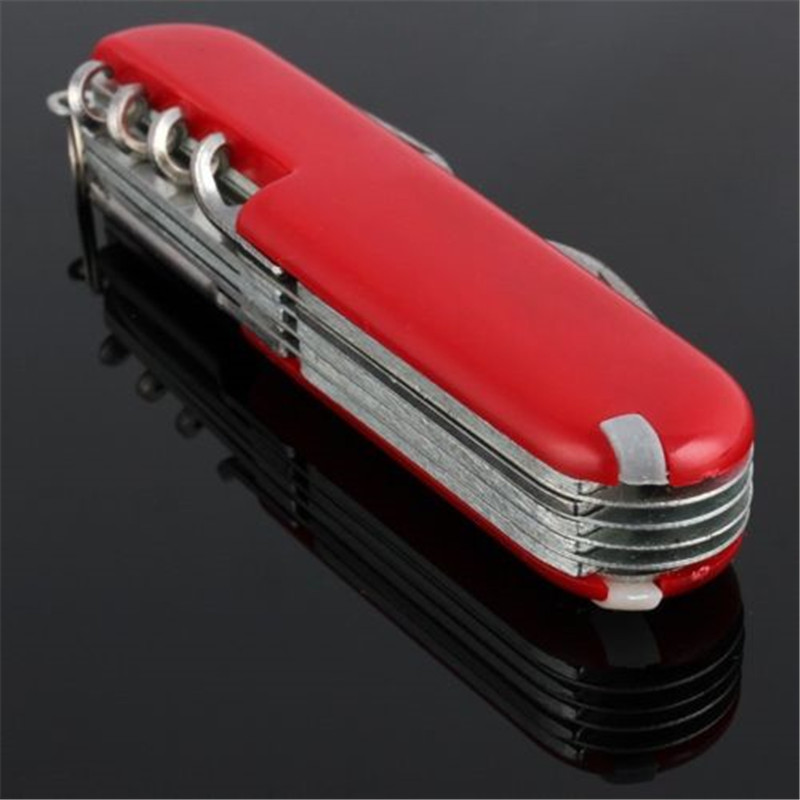 Military Red Small Folding Pocket Swiss Army Knife