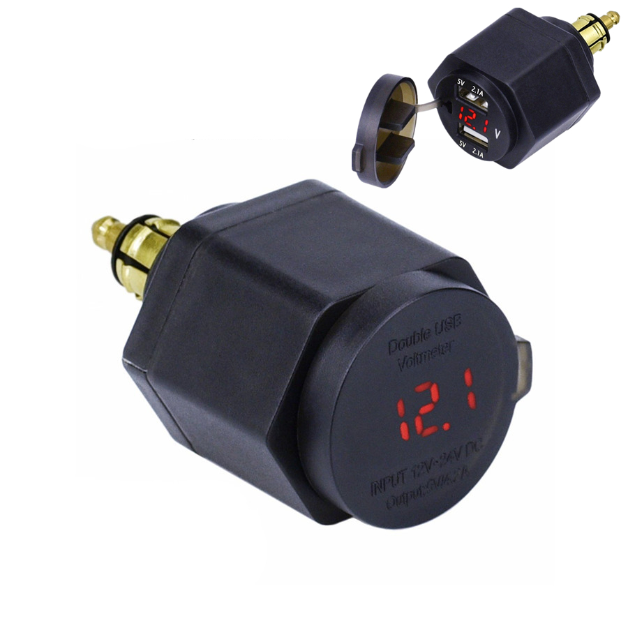 rot led motorrad usb ladeger t spannungsmesser charger for. Black Bedroom Furniture Sets. Home Design Ideas