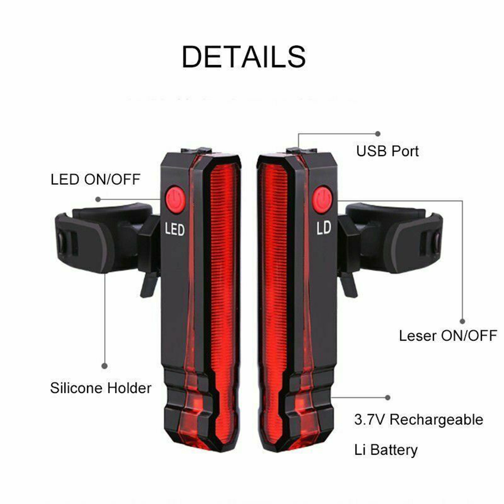 Smart Lights TL262RGN-56 Carrier Fitting Rear LED Cycle Cycling Bike Light