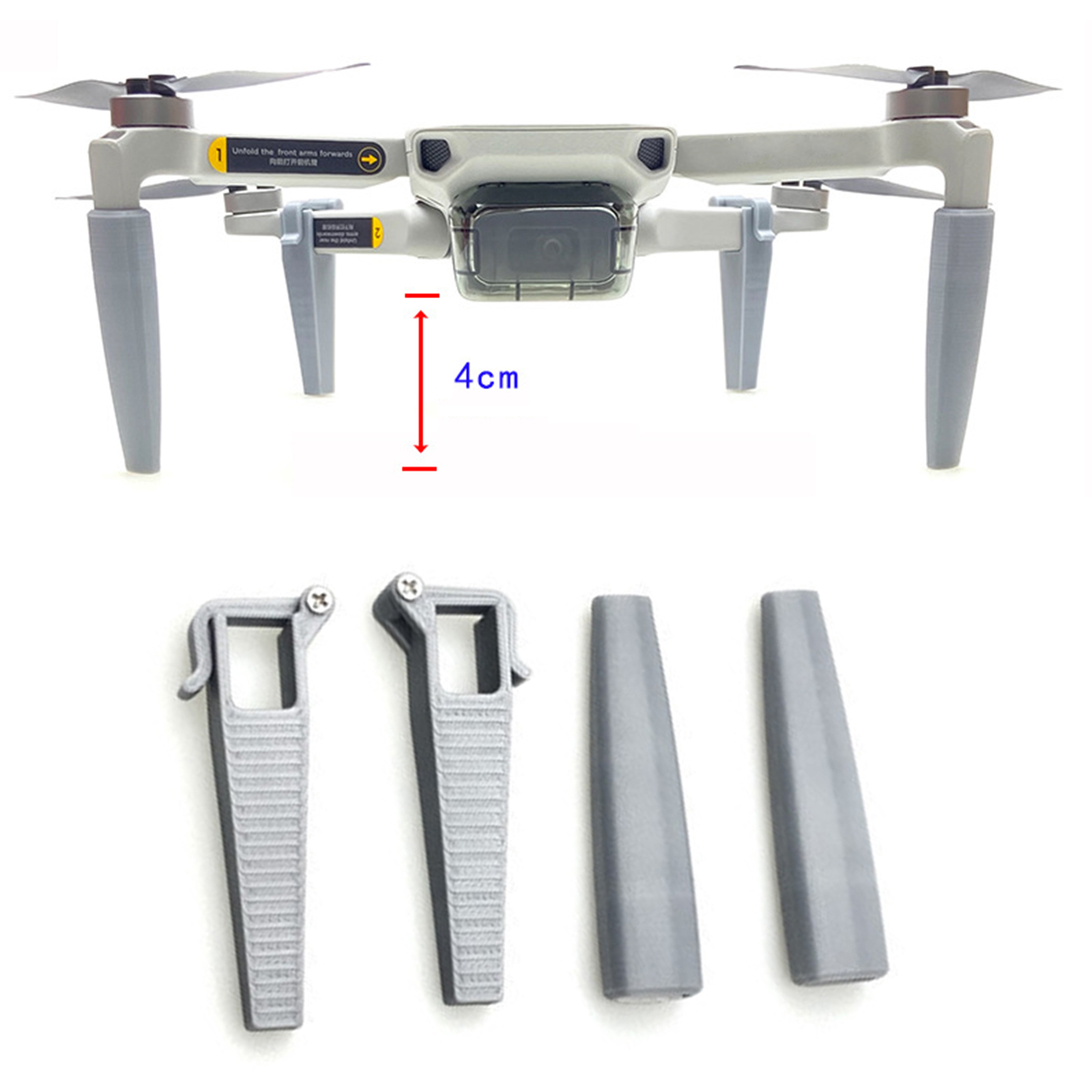 2PCS Extended Landing Gear Quick Release Support Protector for DJI Mavic Mini