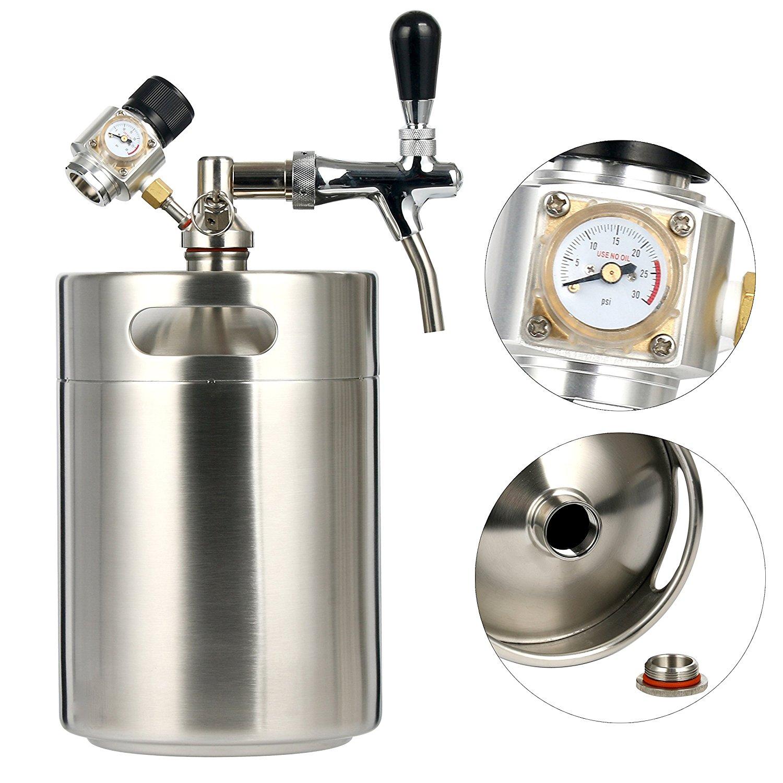 Stainless Steel Beer Dispensor 5l 170oz Mini Co2