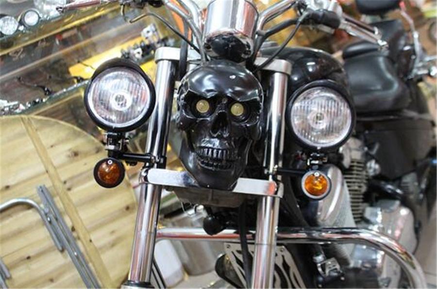 Universal Motorrad Scheinwerfer Nebelleuchte Blinker Birne mit Gabel Halterung