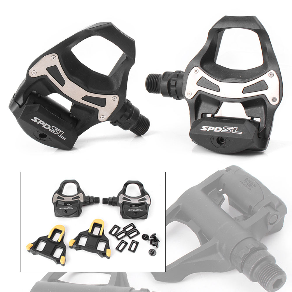 Set For bike PD R550 SPD SL Clipless Road Bike Bicycle Pedals w// Float Cleats