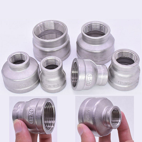 """1-1//4/""""x1/"""" Female to Female Nipple Threaded Reducer F//F Pipe Fitting SS304 BSP"""
