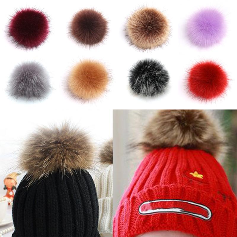 8cm Faux Fur Balls Artificial Plush Pom Poms Diy Clothing Handbag Pendant Acces