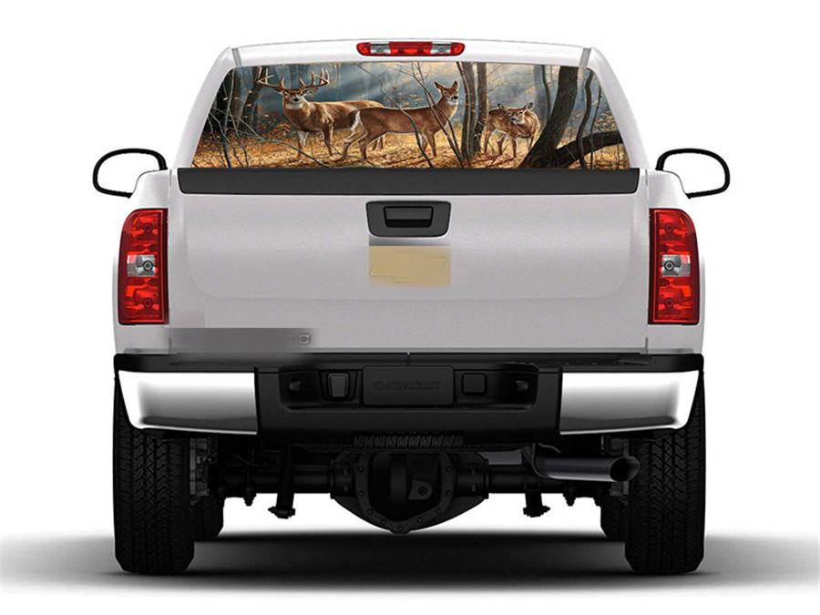 147x46cm Forest Deer Family Window Graphic Tint Decal ...