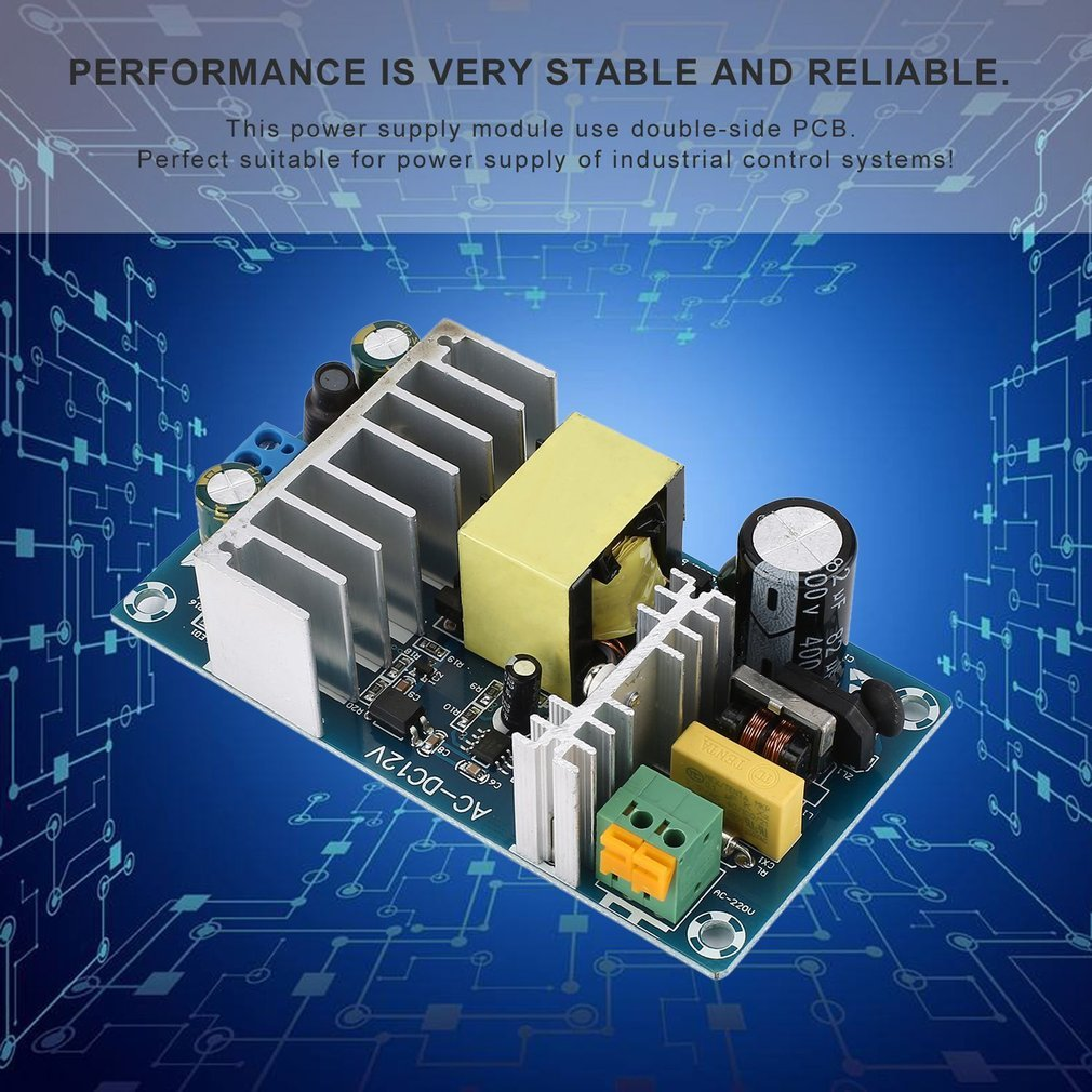 Useful Ac 85 265v To Dc 12v Board Pcb Switching Power Supply Module Smps Tablet Circuit This Use Double Side Performance Is Very Stable And Reliable Perfect Suitable For Of Industrial Control Systems