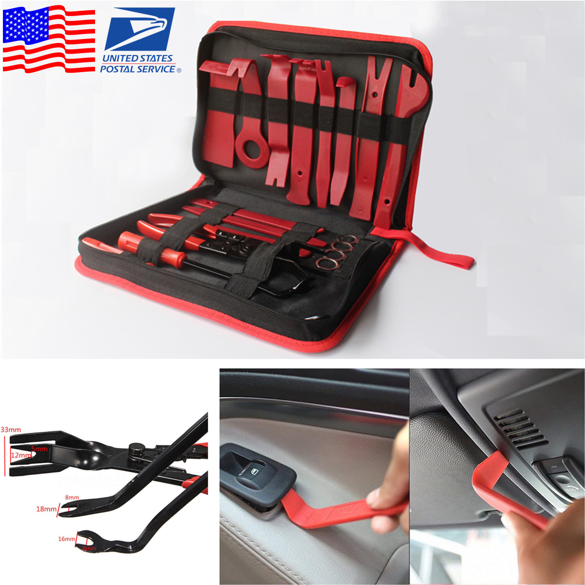 USA! Car Panel Dash Audio Radio Removal Installer and Repair Pry