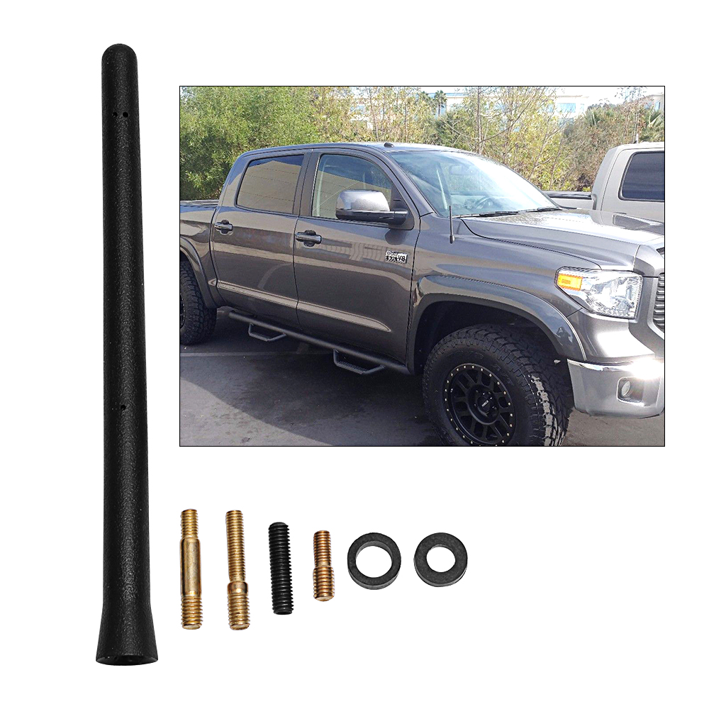 "3.2/""Aluminum Alloy FM ANTENNA Black MAST Fit For 2000-2019 Toyota Tundra CARMSKY"