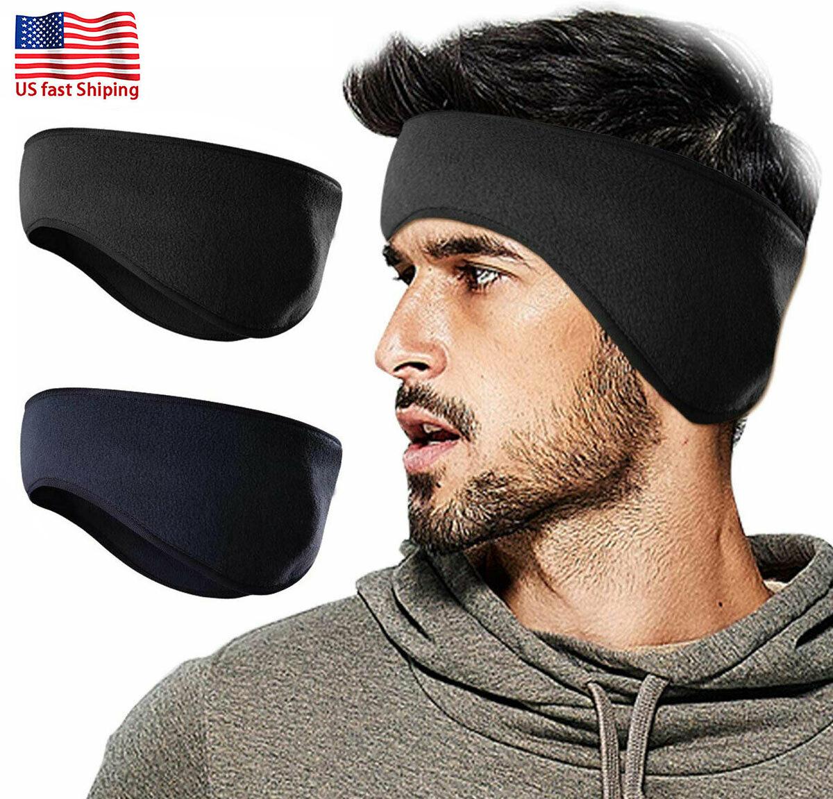 Hot Sale Ear Warmers Headband Cover Unisex Headwrap Fleece Ear Muffs 3 Colors US
