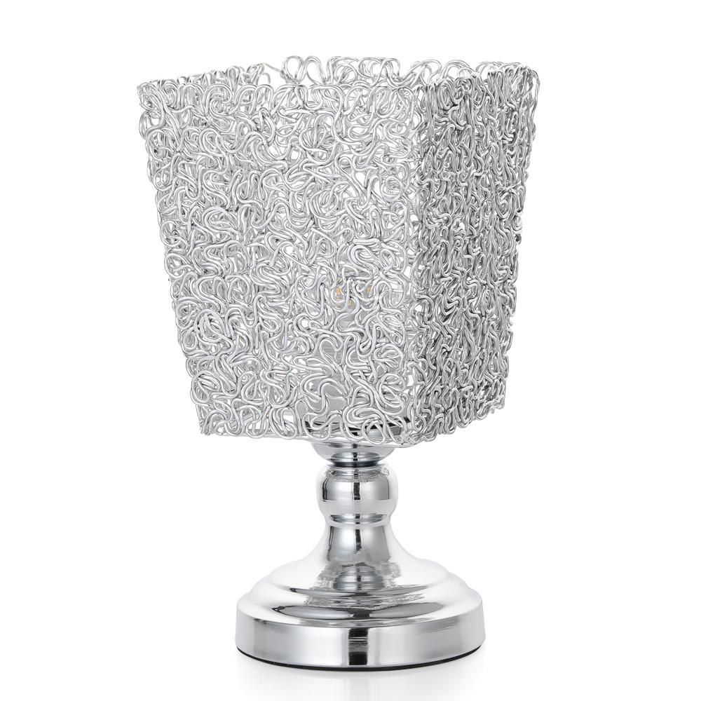 Modern Crystal Spheriform Desk Lamp Beside Nightstand Night Light Bedroom Gift