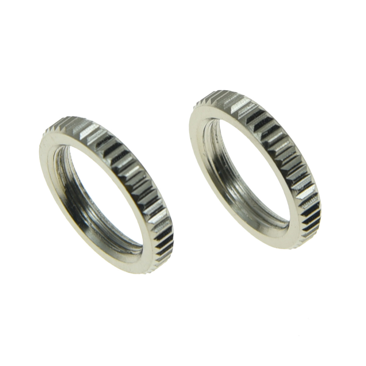 2 Fine Shouldered Deep Toggle Switch Nut Nickel For Switchcraft Made in USA