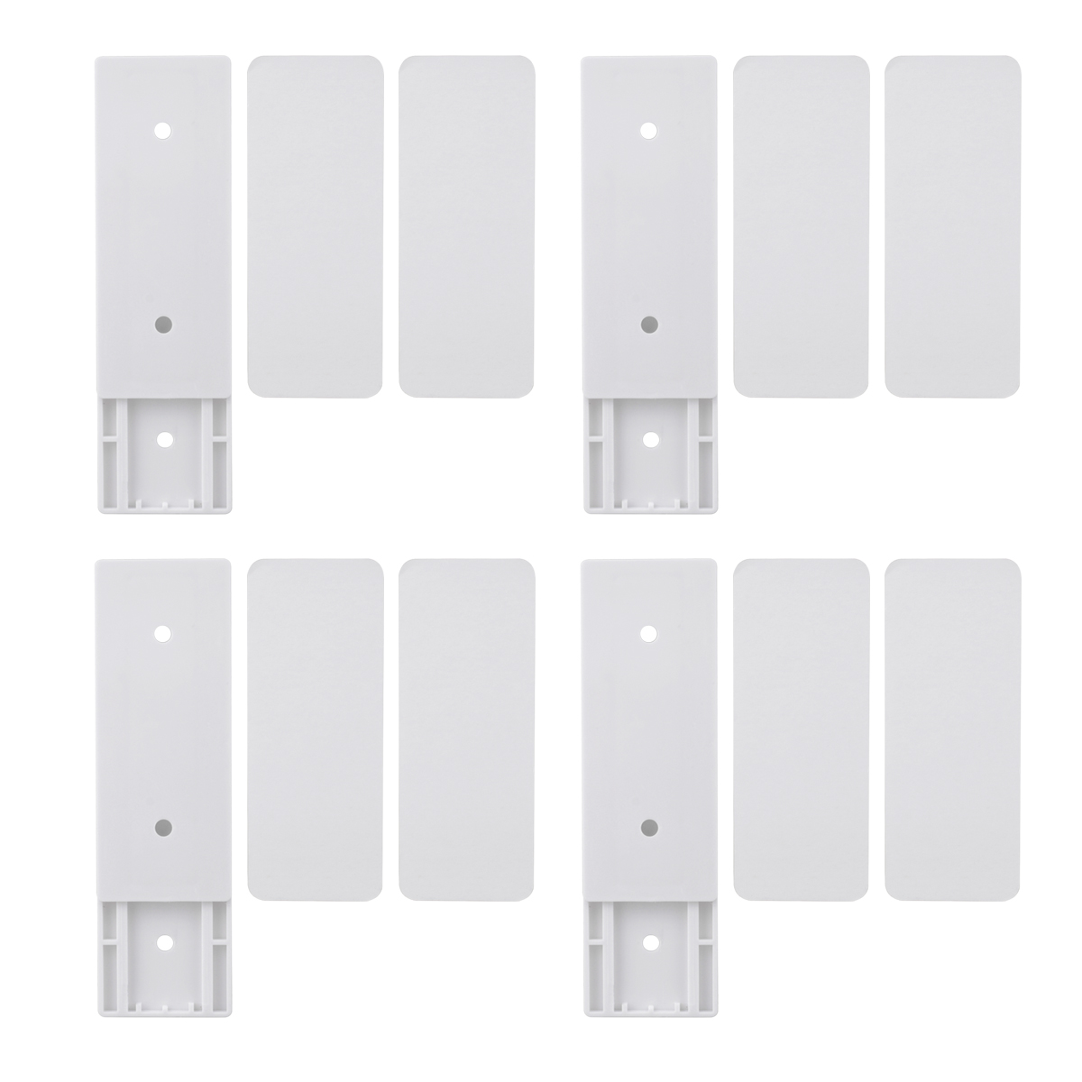 4pcs Wall-Mount Self Adhesive Power Strip Holder Fixator Socket Cable Fixer Rack