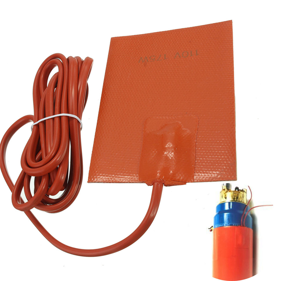 110V 175W Silicone Heater Pad Engine Oil Pan Tank Car Start