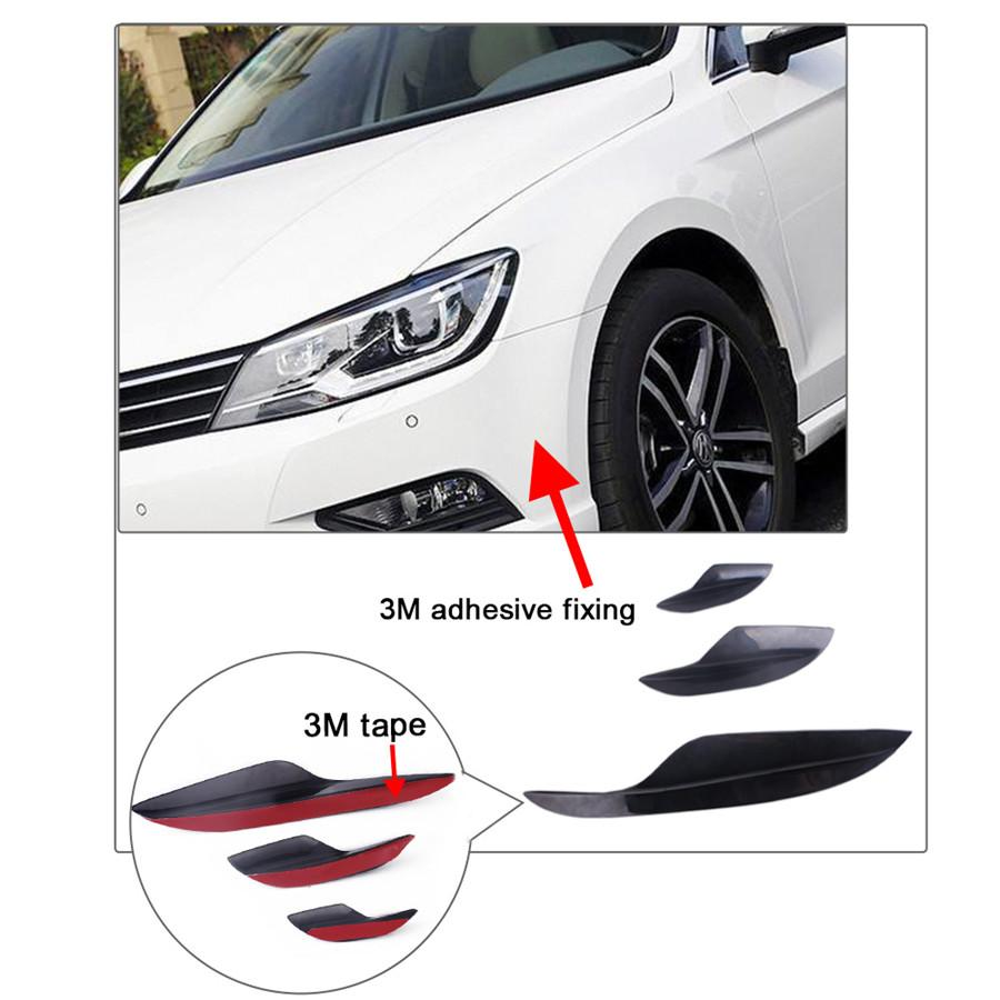 For BMW E90 E92 E93 M3 05-12 6X Front Bumper Canards Lip Splitters Glossy Black