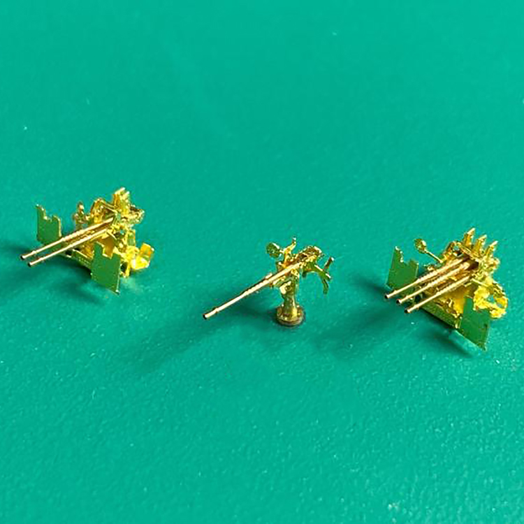 1//350 Scale 25mm Anti-aircraft Gun Metal Assembly Model for Model Ship