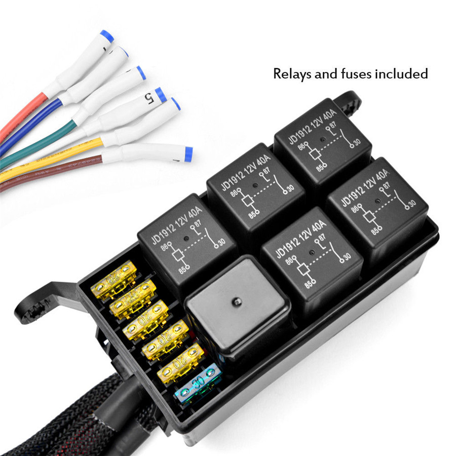 6 Gang 6led Autos Switch Panel Relay Control Box Wiring