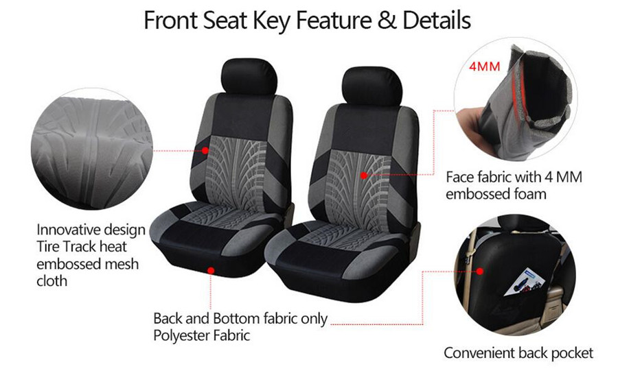 Car Interior Parts >> Details About Classic Washable Car Interior Seat Covers Auto Cushions Protector For Front 2pcs