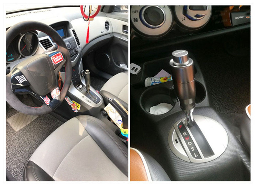 Details about New Durable Gear Stick Shift Knob Button Automatic Gear Knobs  Shifter Head Black