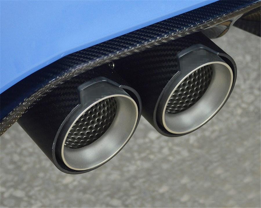 2PCS Short 66MM IN 93MM OUT Matte 100% Real Carbon Fiber ...