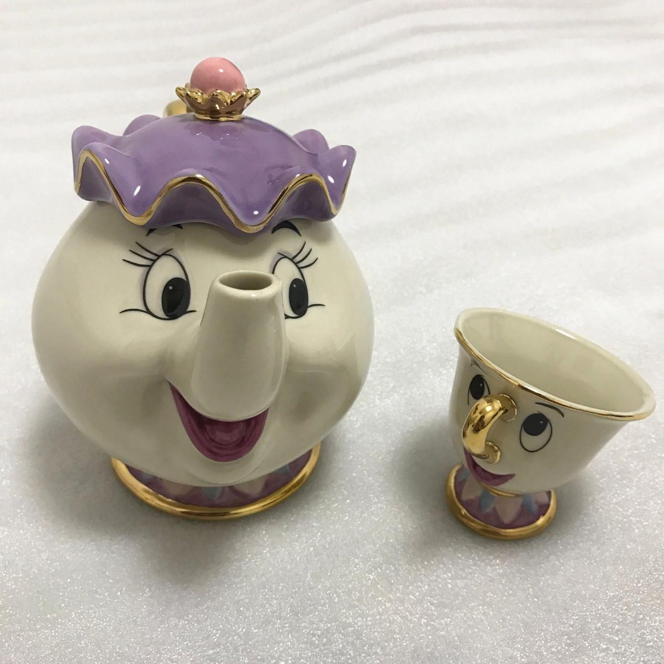Mrs Potts Beauty And The Beast Teapot Cartoon Mug Chip Tea