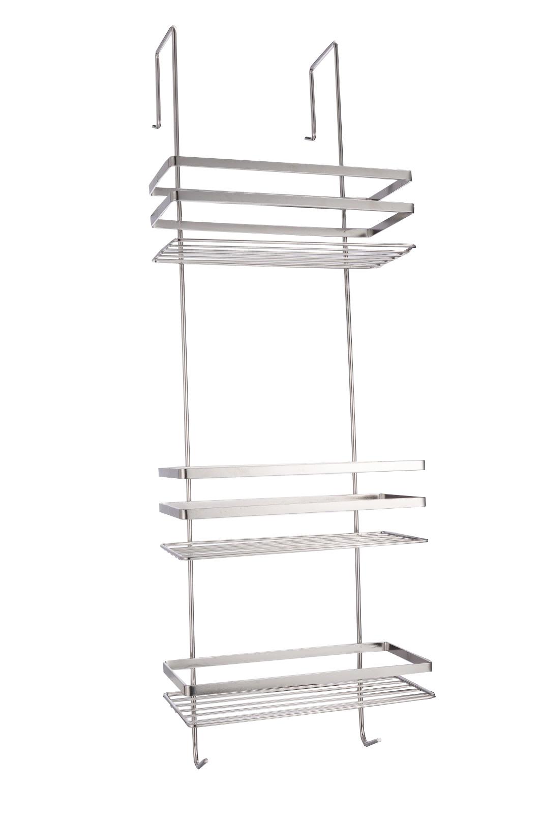 3 b den edelstahl duschregal zum h ngen duschkorb duschablage ohne bohren ebay. Black Bedroom Furniture Sets. Home Design Ideas