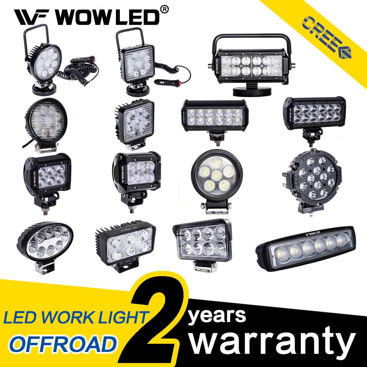 2X 60 W DEL Work Light Bar Flood Spot Light 12 V 24 V OFF ROAD AUTO CAMION SUV Lampe