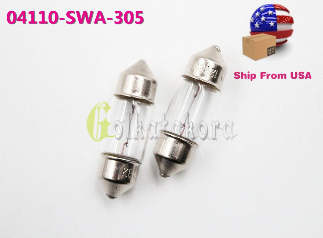 SL 04110-SWA-305 2PCS INTERIOR DOME LIGH MAP LIGHT BULB T10X31 8W 12v FOR HONDA