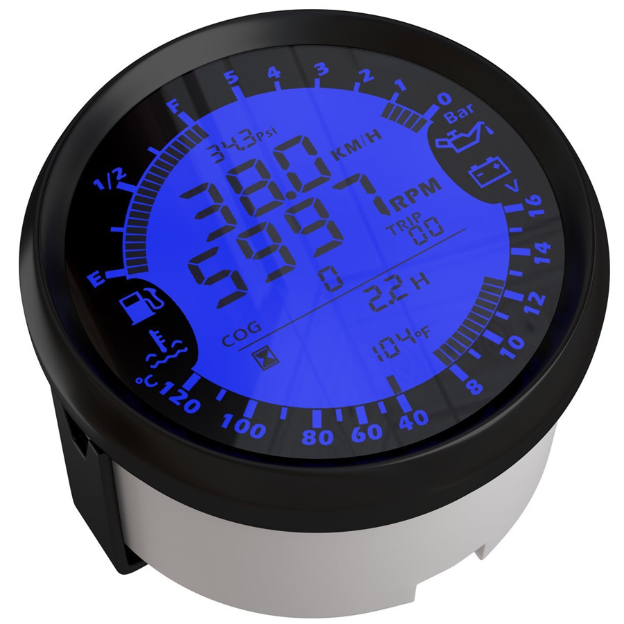85mm digital kmh mph auto gps tacho tachometer voltmeter ldruck drehzahlmesser ebay. Black Bedroom Furniture Sets. Home Design Ideas