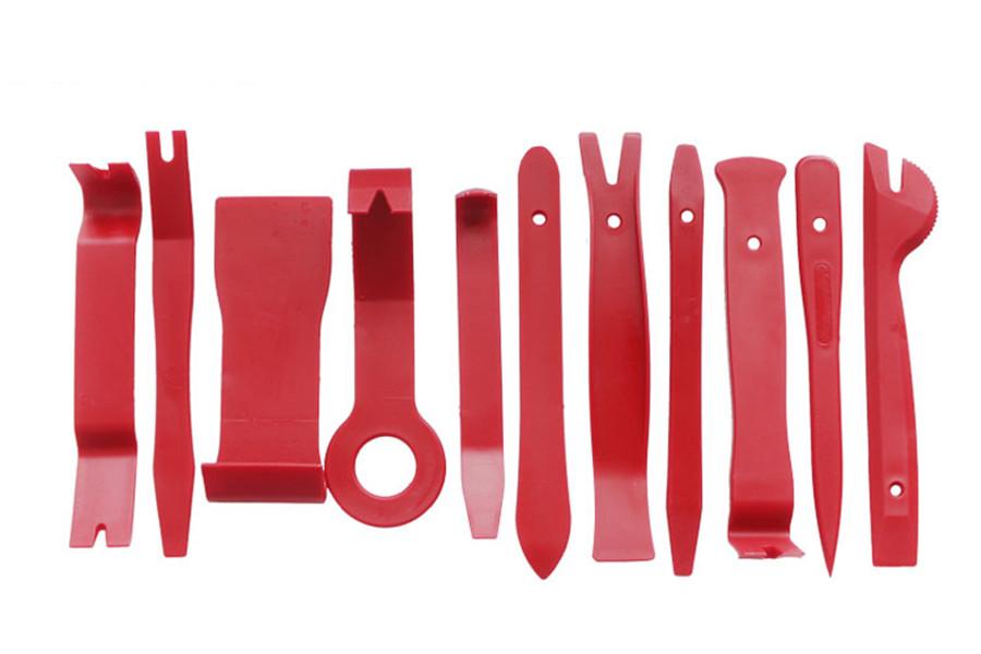22x Rot Auto Radio Montage Demontage Werkzeug Innen Tür Verkleidung Ausbau Hebel