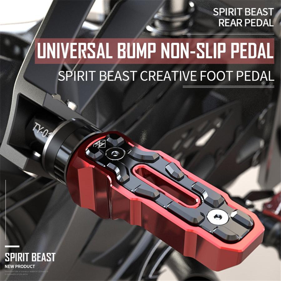 1 Pair Rear Motorcycle Anti-Skid Widened Foot Rest Pedal Motorbike Accessories
