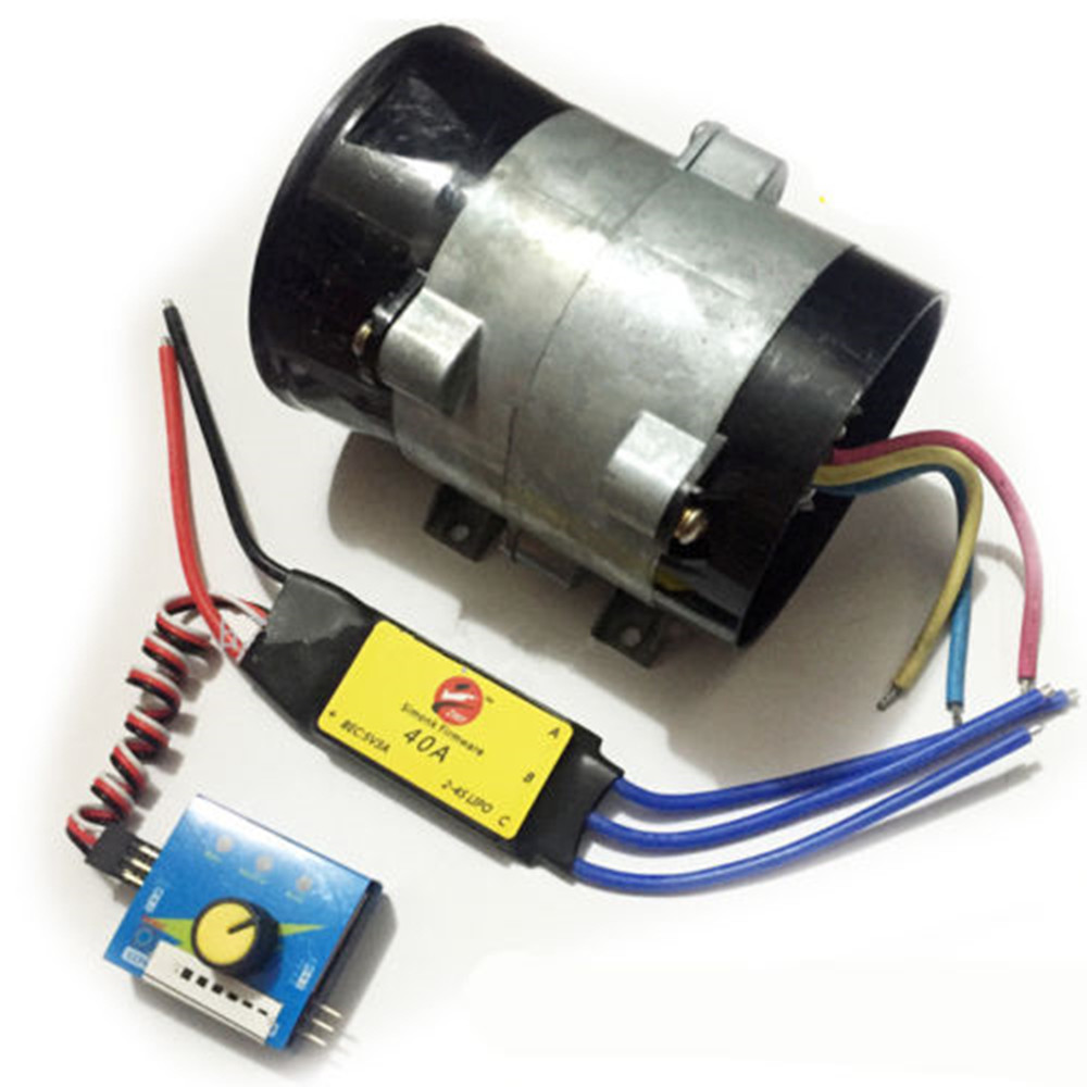52000RPM 12V 16.5A Autos Electric Supercharger Turbo Air Intake Fan With ESC40A