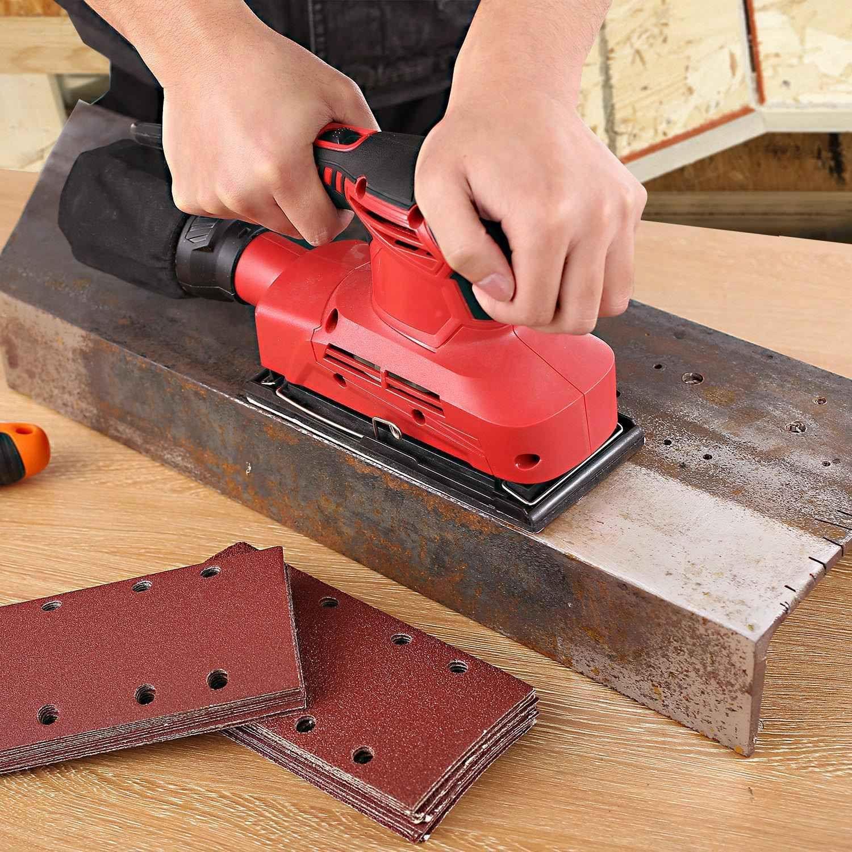 Hook and Loop Mouse Sander Pads Sander Paper for ZesGood 60PCS Sanding Sheets