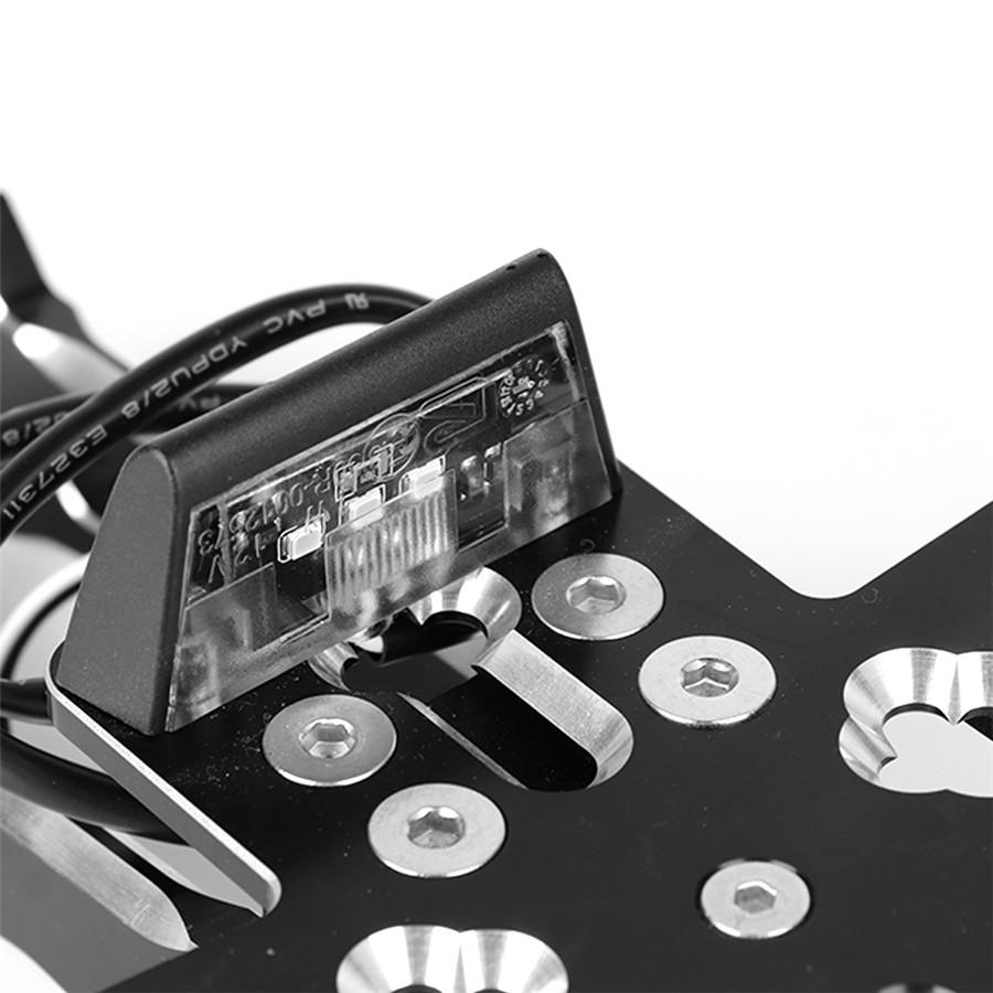 Shcwarz CNC Motorrad Kennzeichenhalter Blinker Halterung für KYMCO AK550 2017-18