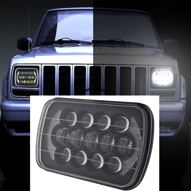 LED Work Lamp Head Light Hi-Lo Beam Halo DRL For Jeep Cherokee XJ 85W Effective