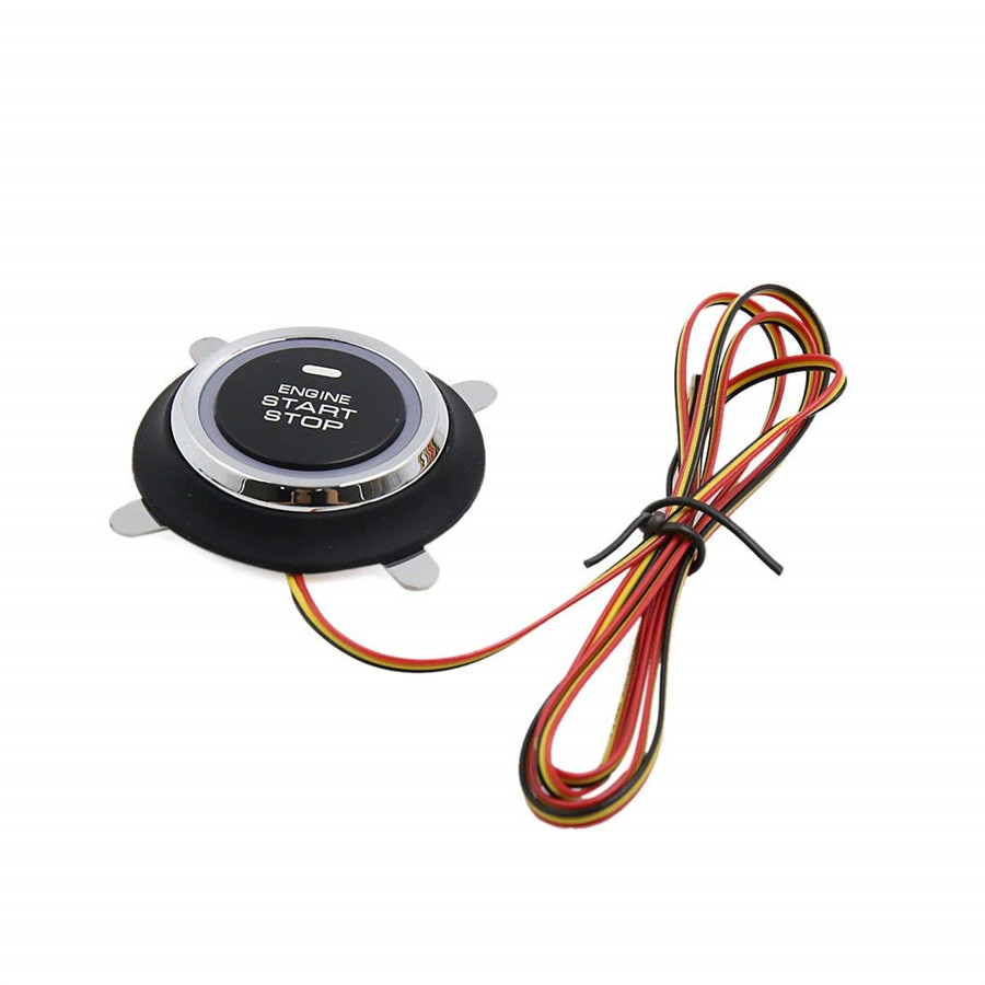 Led Engine Push Start Stop Button Ignition Starter Switch For Car Wiring Universal Keyless System