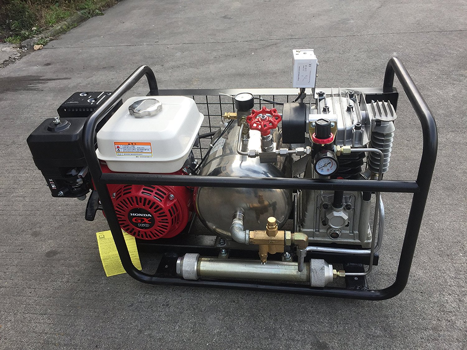 Details about Gas-Powered Oil Free Air Compressor by Honda Engine Hookah  Dive System SCU80P