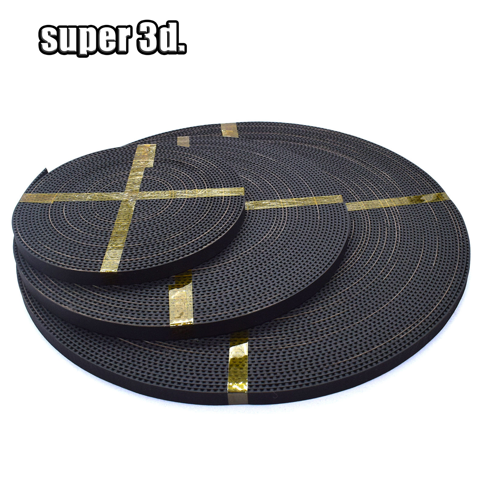 MXL-6mm//10mm//2GT-6mm PU Rubber Timing Belt Open Belt For 3D Printer Reprap x1M